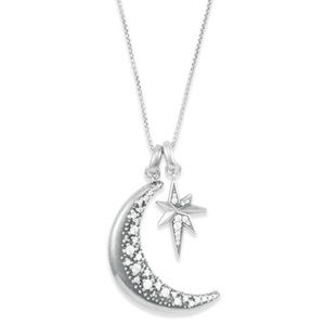 Kendra Scott CZ Moon Charm Necklace